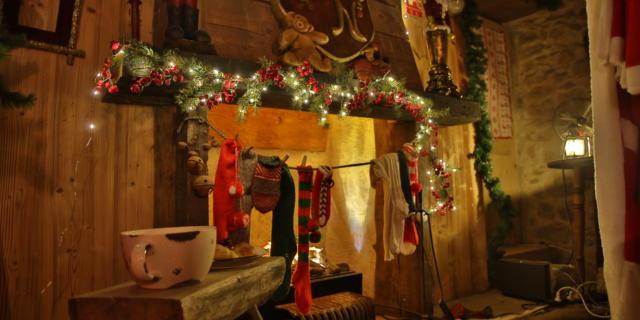 Cheminée de la maison du Père Noël en Haute-Savoie