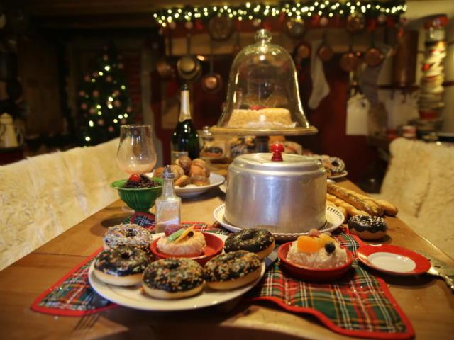 Cuisine de la maison du Père Noël en Haute-Savoie