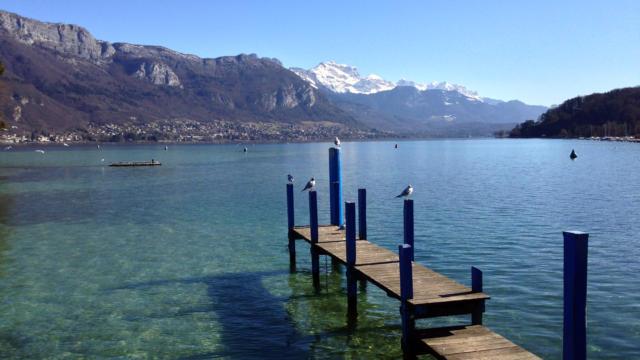 Sur les bords du lac d'Annecy