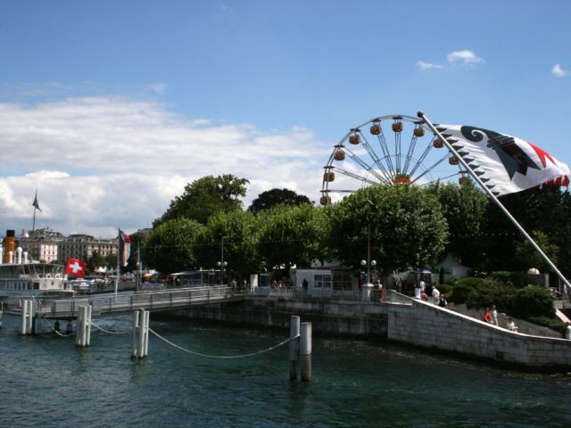 Les quais de Genève, jardin Anglais